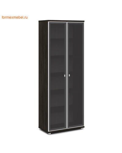 Шкаф для документов ЭКСПРО V -611 высокий со стеклом дуб Кентербери (фото)