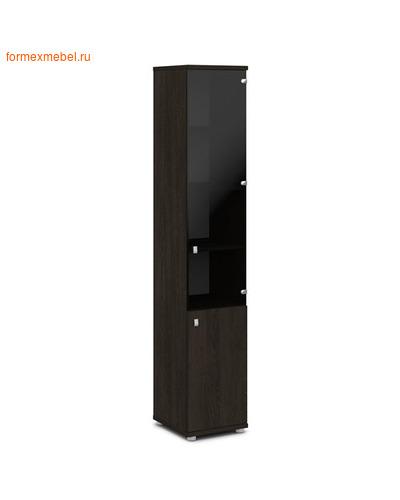 Шкаф для документов ЭКСПРО V-502лев./прав узкий со стеклом Дуб Кентербери, левый (фото)