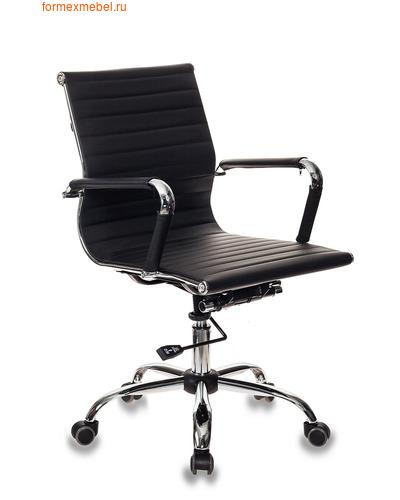 Кресло для посетителей офисное Бюрократ CH-883 Low CH-883 Low/Black черное (фото)