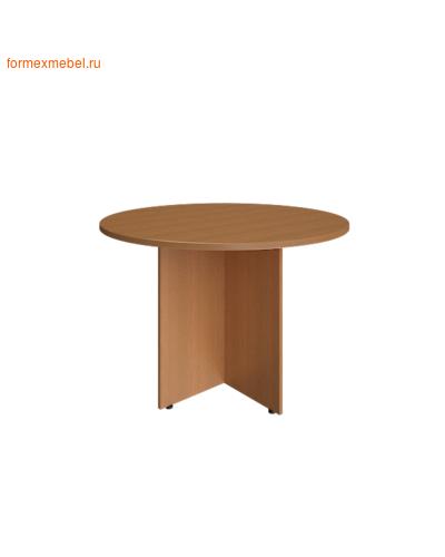 Стол для совещаний А.ПРГ-1 круглый орех гварнери, груша ароза серый (фото)