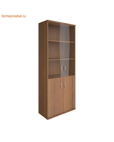 Шкаф для одежды А.СТ-1.2 со стеклом орех гварнери, груша ароза серый (фото)