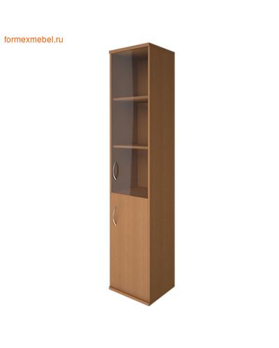 Шкаф для документов А-СУ-1.2 Л/Пр со стеклом ПРАВЫЙ орех гварнери, груша ароза, серый (фото)