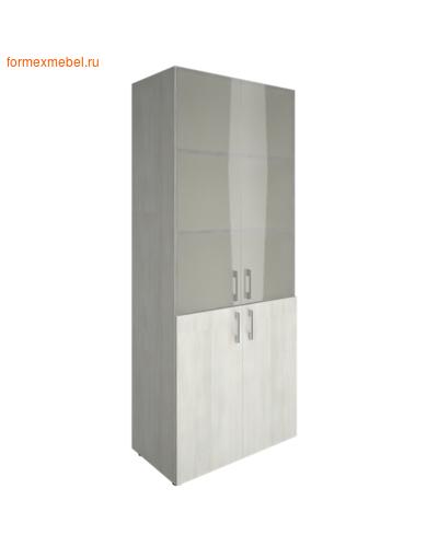 Шкаф для документов со стеклом LT-ST 1.2 снежная патина (фото)