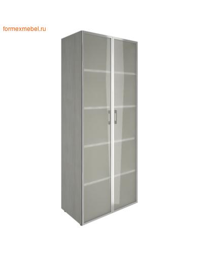 Шкаф для документов с высоким стеклом LT-ST 1.10R снежная патина (фото)