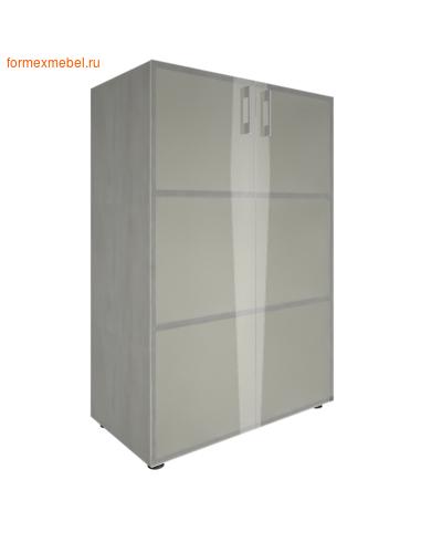 Шкаф для документов со стеклом LT-ST 2.4 снежная патина (фото)