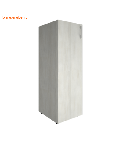 Шкаф для документов узкий средний закрытый LT-SU 2.3 снежная патина, левый (фото)