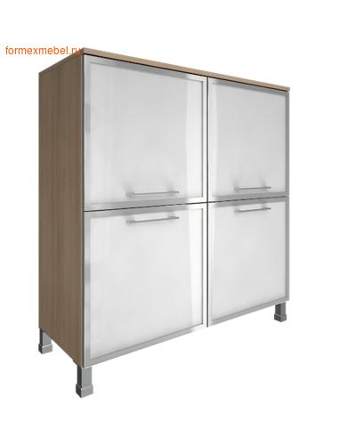Шкаф для документов квадратный со стеклом LT-SD 4R white акация (фото)