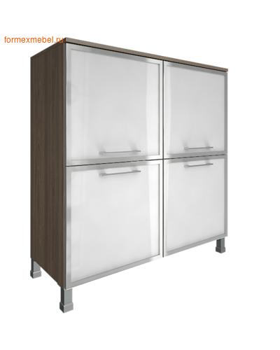 Шкаф для документов квадратный со стеклом LT-SD 4R white вяз благородный (фото)