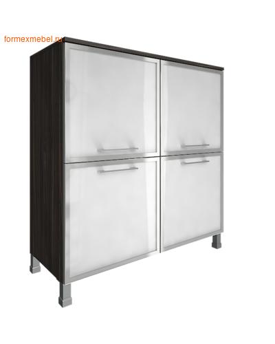 Шкаф для документов квадратный со стеклом LT-SD 4R white суар темный (фото)