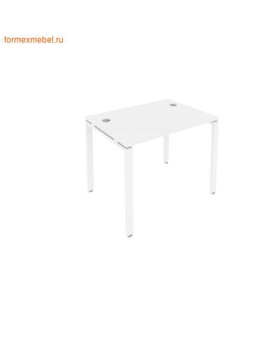 Стол рабочий Б.СП-1 100 см белый/белый металл (фото)
