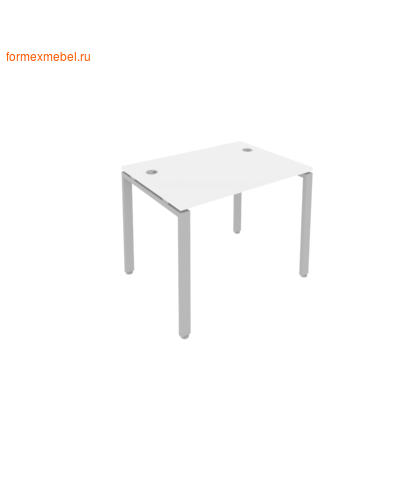 Стол рабочий Б.СП-1 100 см белый/серый металл (фото)
