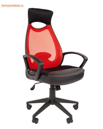 Компьютерное кресло Chairman СН-840 Black красное (фото)