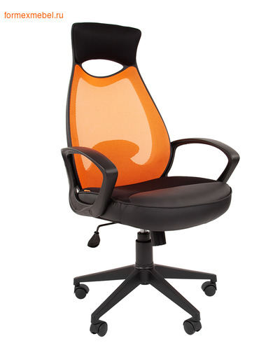 Компьютерное кресло Chairman СН-840 Black оранжевое (фото)