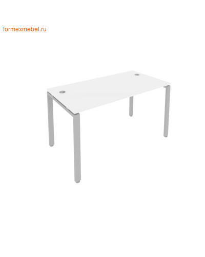 Стол рабочий Б.СП-3 140 см белый/серый металл (фото)