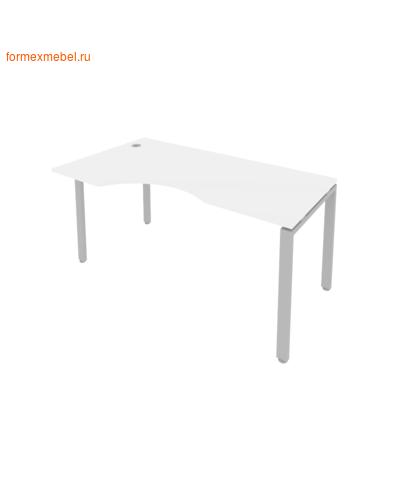 Стол рабочий эргономичный Б.СА-1Л 160 см белый/серый металл (фото)