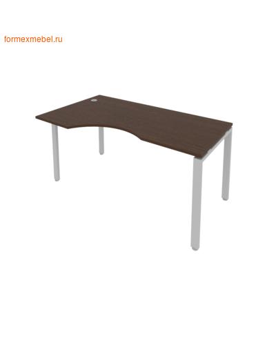 Стол рабочий эргономичный Б.СА-1Л 160 см венге цаво/серый металл (фото)