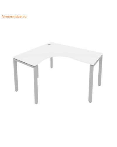 Стол рабочий эргономичный Б.СА-3 Левый 140 см белый/серый металл (фото)