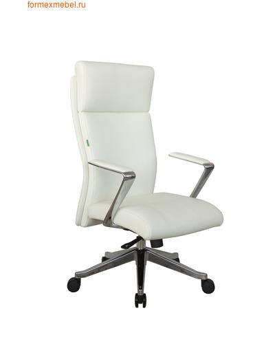 Кресло руководителя Рива А1511 белая кожа (фото)