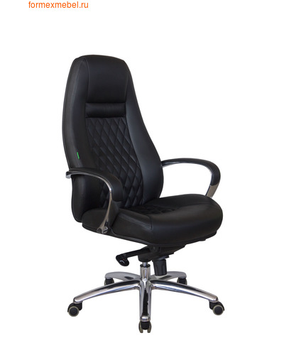 Кресло руководителя Рива F185 черная кожа (фото)