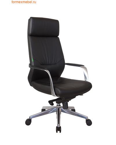 Кресло руководителя Рива А1815 черная кожа (фото)