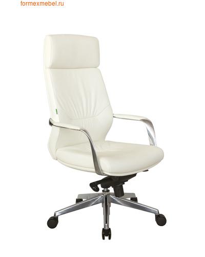 Кресло руководителя Рива А1815 белая кожа (фото)