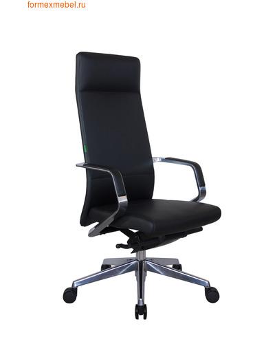 Кресло руководителя Рива А1811 черная кожа (фото)