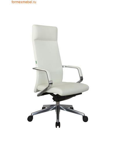 Кресло руководителя Рива А1811 белая кожа (фото)