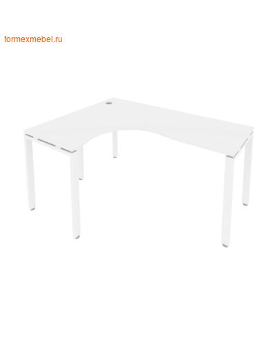 Стол рабочий эргономичный Б.СА-4 Левый 160 см белый/белый металл (фото)