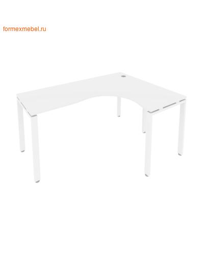 Стол рабочий эргономичный Б.СА-4 Правый белый/белый металл (фото)