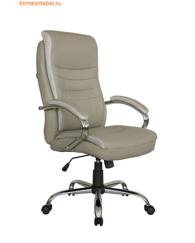 Кресло руководителя Рива RCH 9131 серо-бежевое (фото)