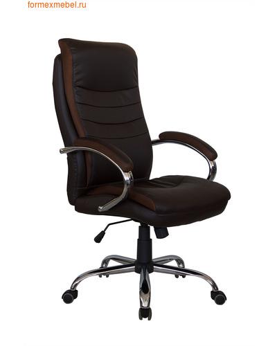 Кресло руководителя Рива RCH 9131 коричневое (фото)