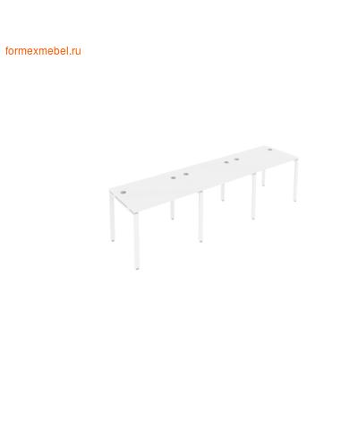 Рабочая станция на три стола Б.СМ-3.1 белый/белый металл (фото)