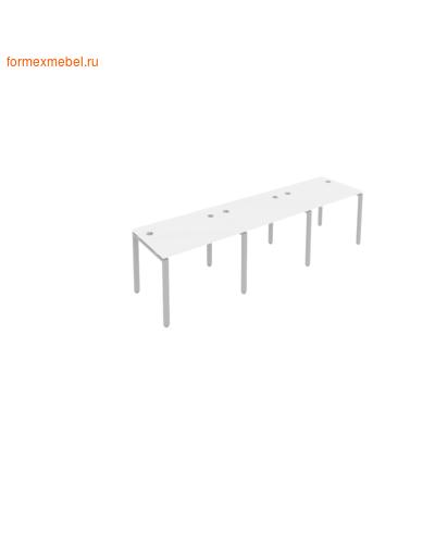 Рабочая станция на три стола Б.СМ-3.1 белый/серый металл (фото)