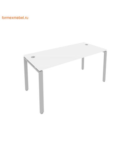 Стол рабочий Б.СП-4 160 см белый/серый металл (фото)