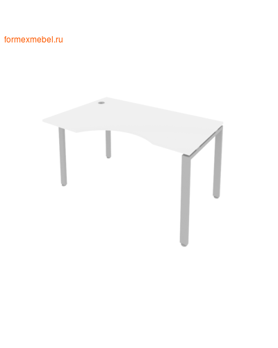 Стол рабочий эргономичный Б.СА-2 Лев 140 см белый/серый металл (фото)