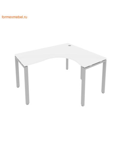 Стол рабочий эргономичный Б.СА-3 Правый белый/серый металл (фото)