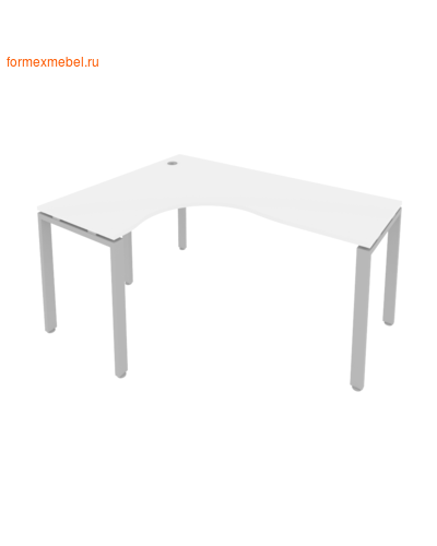 Стол рабочий эргономичный Б.СА-4 Левый 160 см белый/серый металл (фото)