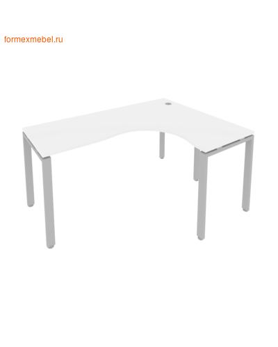 Стол рабочий эргономичный Б.СА-4 Правый белый/серый металл (фото)