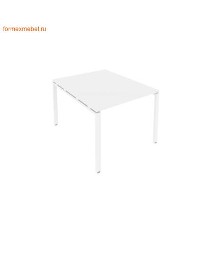 Стол для совещаний Б.ПРГ-1.1 ( 1 столешница) белый/белый металл (фото)
