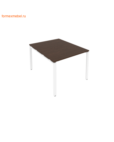 Стол для совещаний Б.ПРГ-1.1 ( 1 столешница) венге цаво/белый металл (фото)