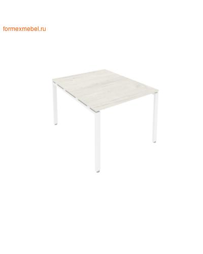 Стол для совещаний Б.ПРГ-1.1 ( 1 столешница) дуб наварра/белый металл (фото)