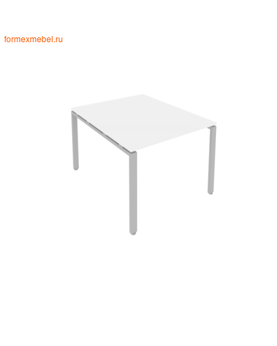 Стол для совещаний Б.ПРГ-1.1 ( 1 столешница) белый/серый металл (фото)