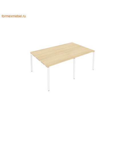 Стол для совещаний Б.ПРГ-2.1 (2 столешницы) акация/белый металл (фото)