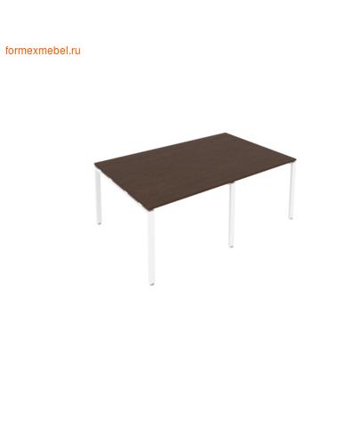 Стол для совещаний Б.ПРГ-2.1 (2 столешницы) венге цаво/белый металл (фото)