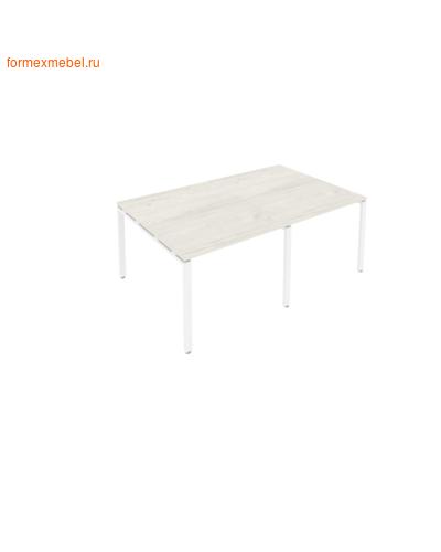 Стол для совещаний Б.ПРГ-2.1 (2 столешницы) дуб наварра/белый металл (фото)