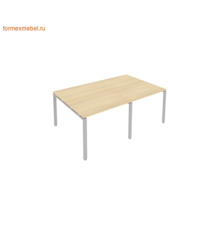 Стол для совещаний Б.ПРГ-2.1 (2 столешницы) акация/серый металл (фото)