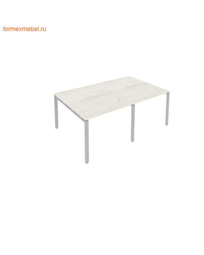Стол для совещаний Б.ПРГ-2.1 (2 столешницы) дуб наварра/серый металл (фото)