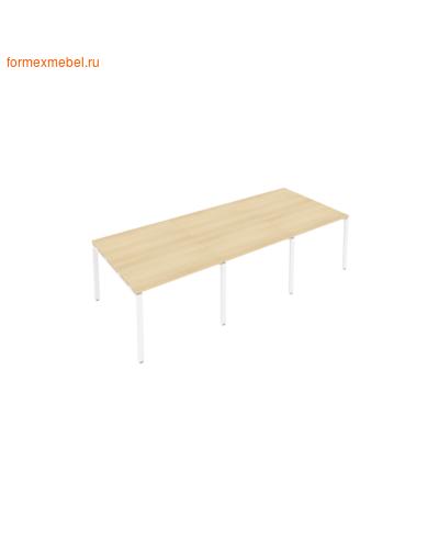 Стол для совещаний Б.ПРГ-3.1 (3 столешницы) акация/белый металл (фото)