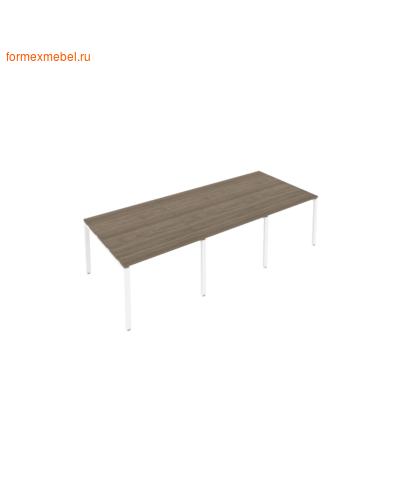 Стол для совещаний Б.ПРГ-3.1 (3 столешницы) вяз благородный/белый металл (фото)
