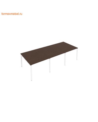 Стол для совещаний Б.ПРГ-3.1 (3 столешницы) венге цаво/белый металл (фото)
